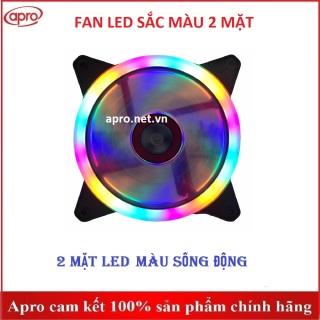 Quạt tản nhiệt, quạt gió có led, Fan case 2 mặt màu sống động giá rẻ - Apro shop thumbnail