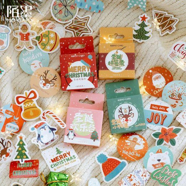 Mua 45 Miếng Dán Trang Trí Giáng Sinh Sticker Trang Trí Thiệp Giáng Sinh Sticker Ông Già Noel Sticker Cây Thông Noel