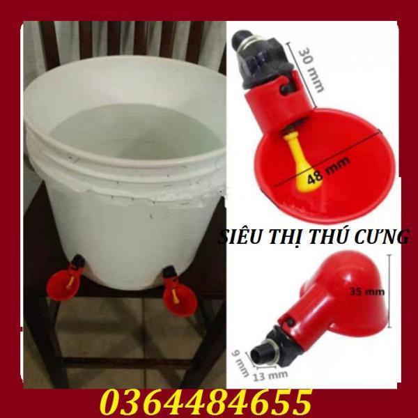 Combo 10 Máng Uống Nước Tự Động Cho Gà Vịt Màu Đỏ Làm Từ Nhựa Nguyên Sinh Có Độ Bền Cao, Thiết Kế Nhỏ Gọn