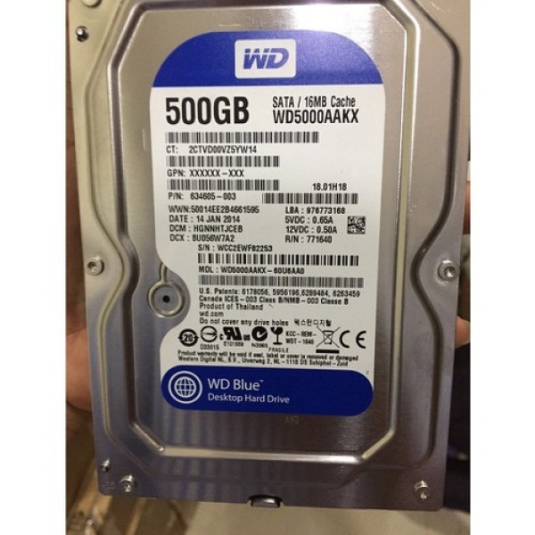 Bảng giá Ổ Cứng Hdd Western Blue 500Gb Hãng Phân Phối Phong Vũ