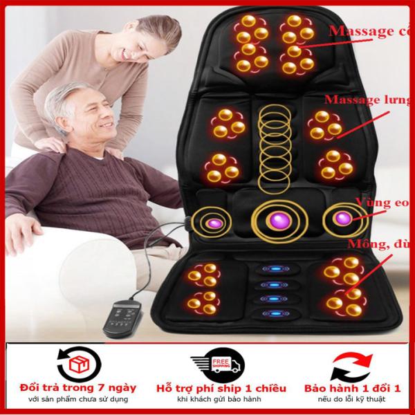 Nệm Massage Toàn Thân, Ghế Massage Đa Năng Toàn Thân, Đệm Ghế Mát Xa Toàn Thân Có Điều Khiển, Điều Chỉnh Nhiều Chế độ Mát xa, đệm tựa lưng massage, đệm matxa oto, đệm ghế mátxa cổ, chân, tay , lưng