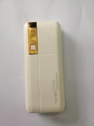 Pin sạc dự phòng 3 cổng USB new 12.000MAH màu vàng - Hỗ trợ sạc nhanh