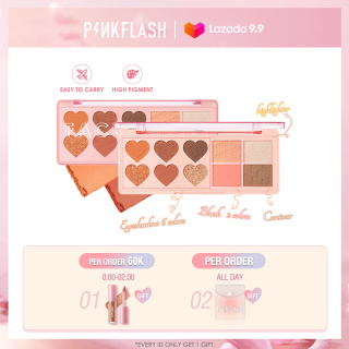 PINKFLASH OhMyLove Multiple Eye Shadow Blush Highlighter Contour 4 in 1 Waterproof Long-lasting High Pigment Soft Smooth Face Palette thumbnail