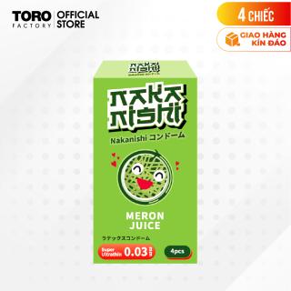 [Hộp 4 cái] Bao cao su Nakanishi - Siêu mỏng 0.03mm - Hương dưa lưới TORO FACTORY thumbnail