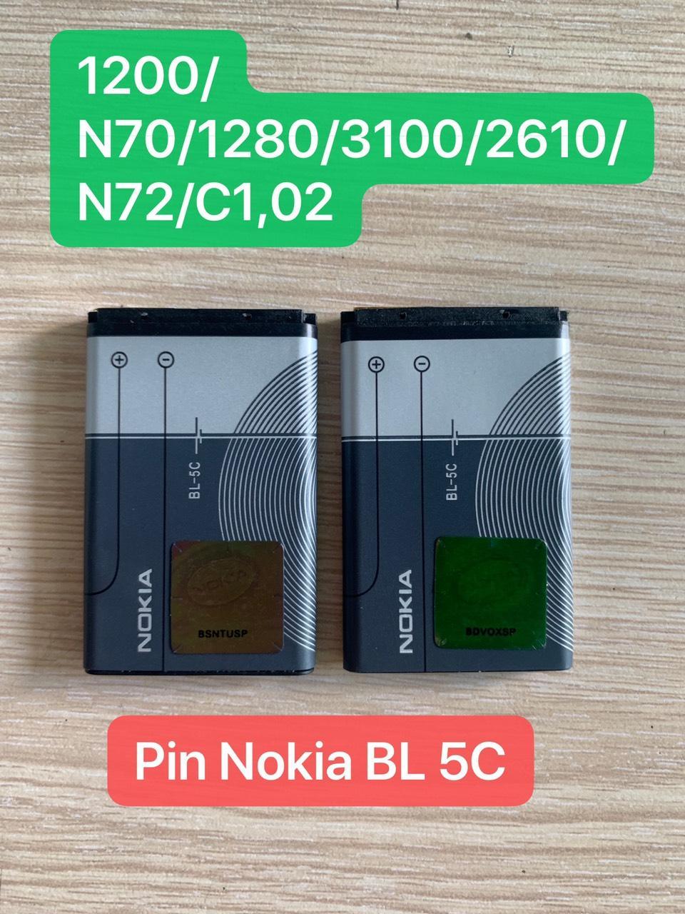 Deal Khuyến Mãi Pin Nokia BL 5C 1280 Bảo Hành 12 Tháng