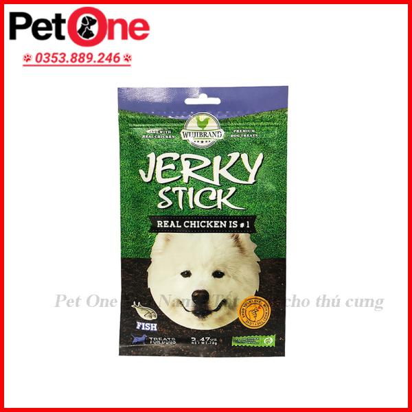 Bánh thưởng cho chó dạng que JERKY STICK nhiều vị (Gói 70g)