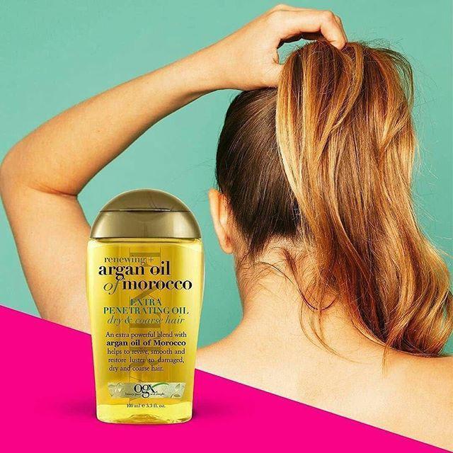 Tinh dầu dưỡng tóc OGX Renewing Argan Oil Of Morocco Penetrating Oil 100ml ( Giao ngẫu nhiên 2 dòng)