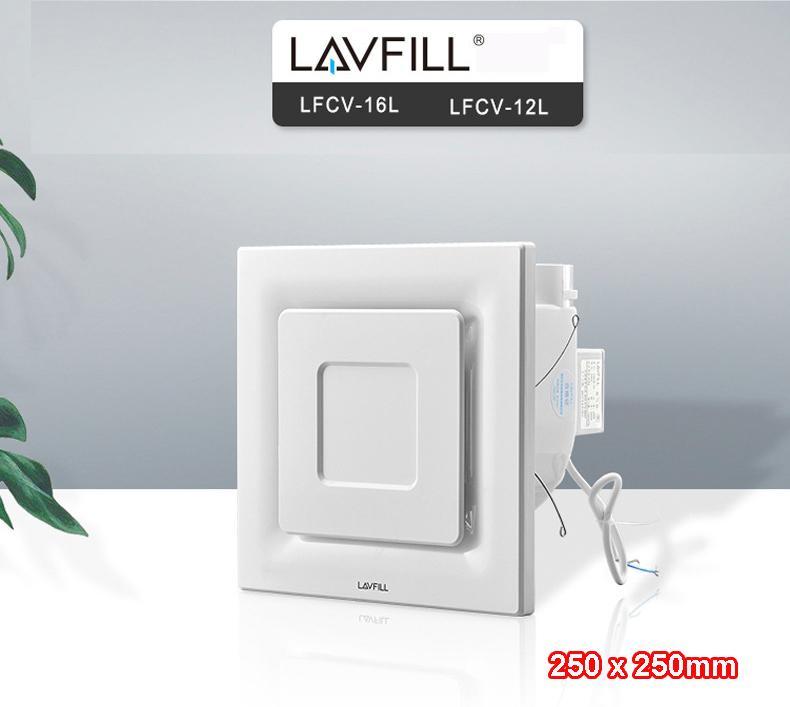 Quạt thông gió âm trần mặt vuông LAVFILL LFCV-12L/ LFCV-16L