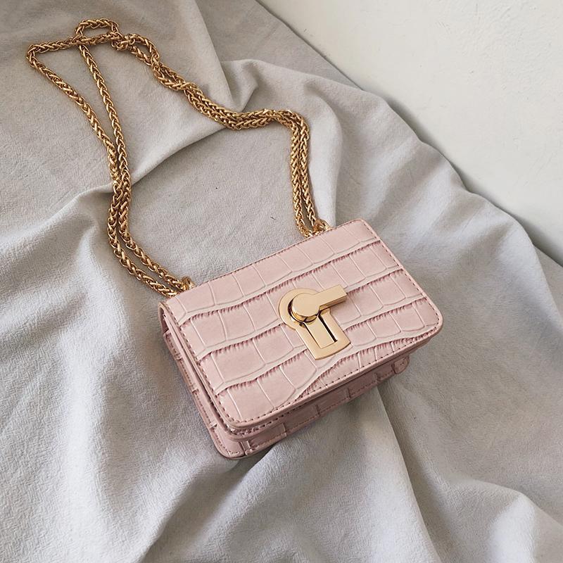 New Arrival Small Bag Womens Bag 2019 New Style Korean Style Versatile Shoulder Bag Fashion Chain One-Shoulder Shi Tou Wen Square Sling Bag