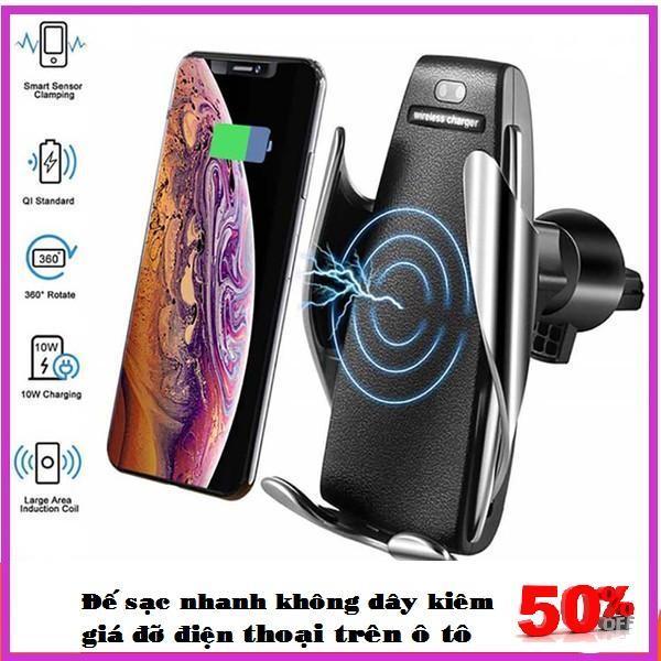Sạc Không Dây Cảm Ứng Thông Minh S5, Giá Đỡ Kiêm Sạc, Pin Trâu Sạc Nhanh, Tiện Lợi. Dành Cho Các Dòng Điện Thoại Samsung-Iphone-Lumia-Oppo…Bảo hành Uy Tín, Miễn phí đổi trả trong vòng 7 ngày
