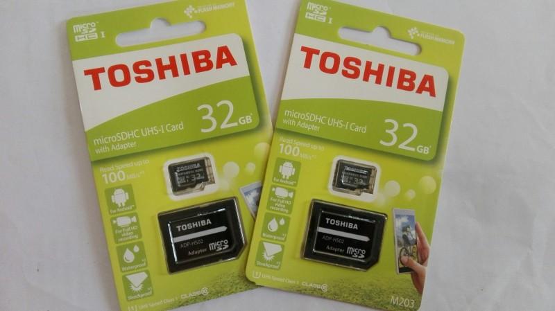 Thẻ nhớ TOSHIBA 32GB (Class 10) 100MB/s kèm Adapter