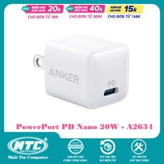 Cốc sạc Anker PowerPort PD Nano 20W A2634 - For IP12 12 Pro 12 Pro Max (Trắng) - Nhất Tín Computer thumbnail