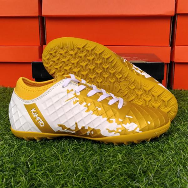 Giày đá bóng Kamito QH19 màu vàng trắng
