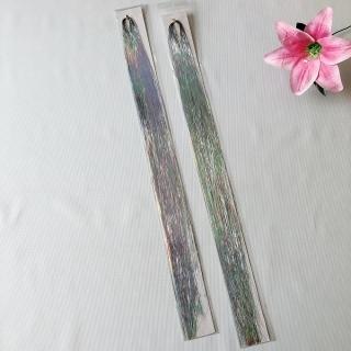 Combo 2 tép line tóc kim tuyến cột màu trắng bach kim (Mua 3 combo bất kì tặng 1 combo. Chọn màu tùy thích. 1 tép từ 80-100 sợi, dài 50-60cm) thumbnail