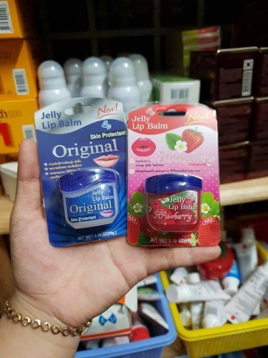 Son dưỡng Jelly lip balm hương dâu trị thâm môi