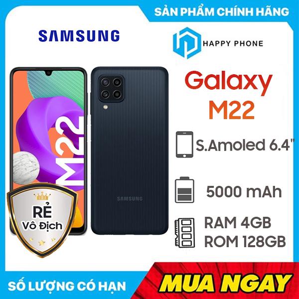 Điện thoại Samsung Galaxy M22 (4GB/128GB) - Hàng chính hãng, mới 100%, Nguyên Seal - Bảo hành 12 tháng