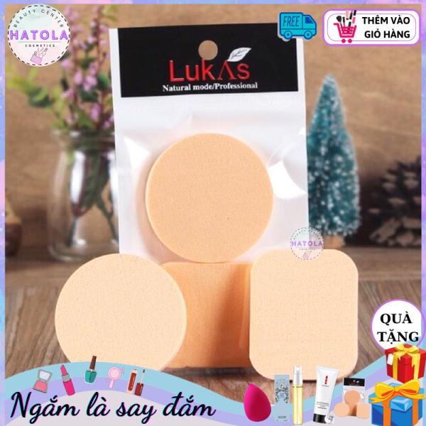 Bông mút trang điểm dùng tán phấn tán kem nền mềm mịn thích hợp với mọi loại da, Set 2 mút trang điểm tròn vuông tiện lợi MTĐ-2