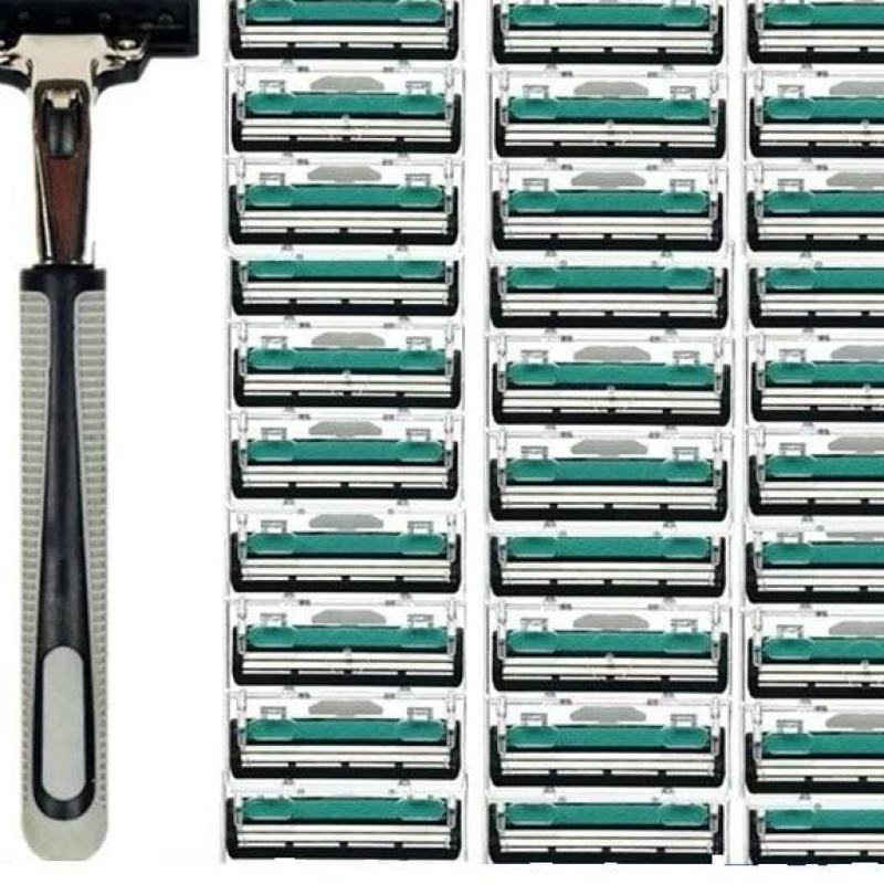 Combo 1 dao cạo râu và 36 lưỡi dao kép-tặng kèm kem cạo râu