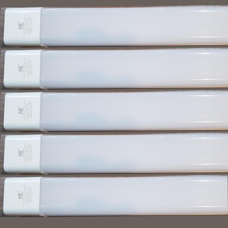 Bộ 5 đèn led Tuýp  máng đôi mica 40w-1.2 mét