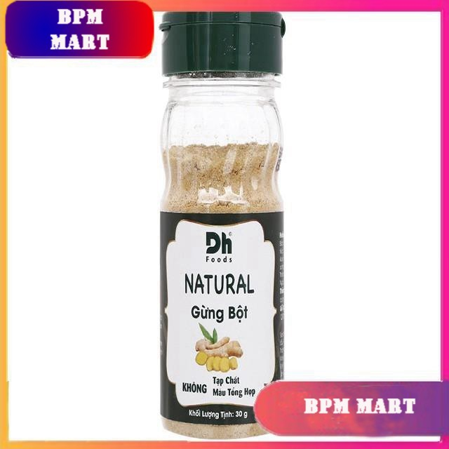 Gừng bột Dh Food Natural hũ 30g TẶNG MÃ GIẢM GIÁ GIA VỊ NẤU ĂN GIA VỊ NÊM - BPMart