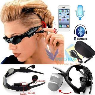 Kính mát kiêm tai nghe Bluetooth (Đen) + Tặng kèm bao da, Mắt kính Bluetooth Sport Grown Tech V4.1 AT120 (Đen) Mẫu Mới 2019 Kết Nối Bluetooth, Nghe Nhạc, Chống Bụi, Bảo Vệ Mắt Khỏi Tia Uv. thumbnail