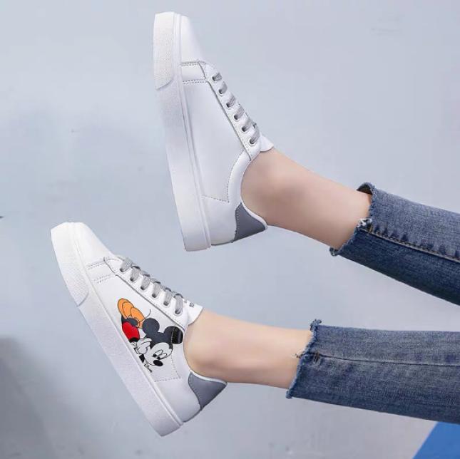 Giày Thể Thao nữ trắng mickey siêu hot giá rẻ