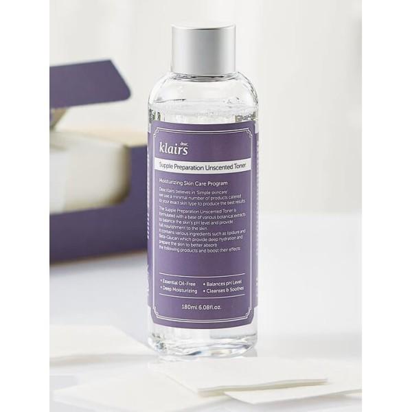 Toner Chống Viêm Dưỡng Ẩm Klairs Supple Preparation unFacial 180ml (không mùi)
