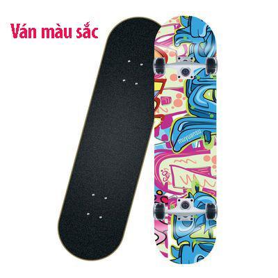 Ván trượt skateboard thể thao chất liệu gỗ phong ép cao cấp 8 lớp mặt nhám - 7
