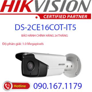 [HCM]Camera HD-TVI hồng ngoại 1.0 Megapixel HIKVISION DS-2CE16C0T-IT5 thumbnail