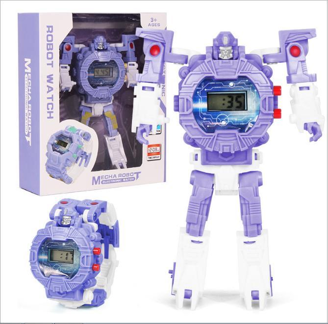 Đồng Hồ Điện Tử Dành Cho Trẻ Em Biến Hình Robot 2 Trong 1 Giá Sốc Không Thể Bỏ Qua