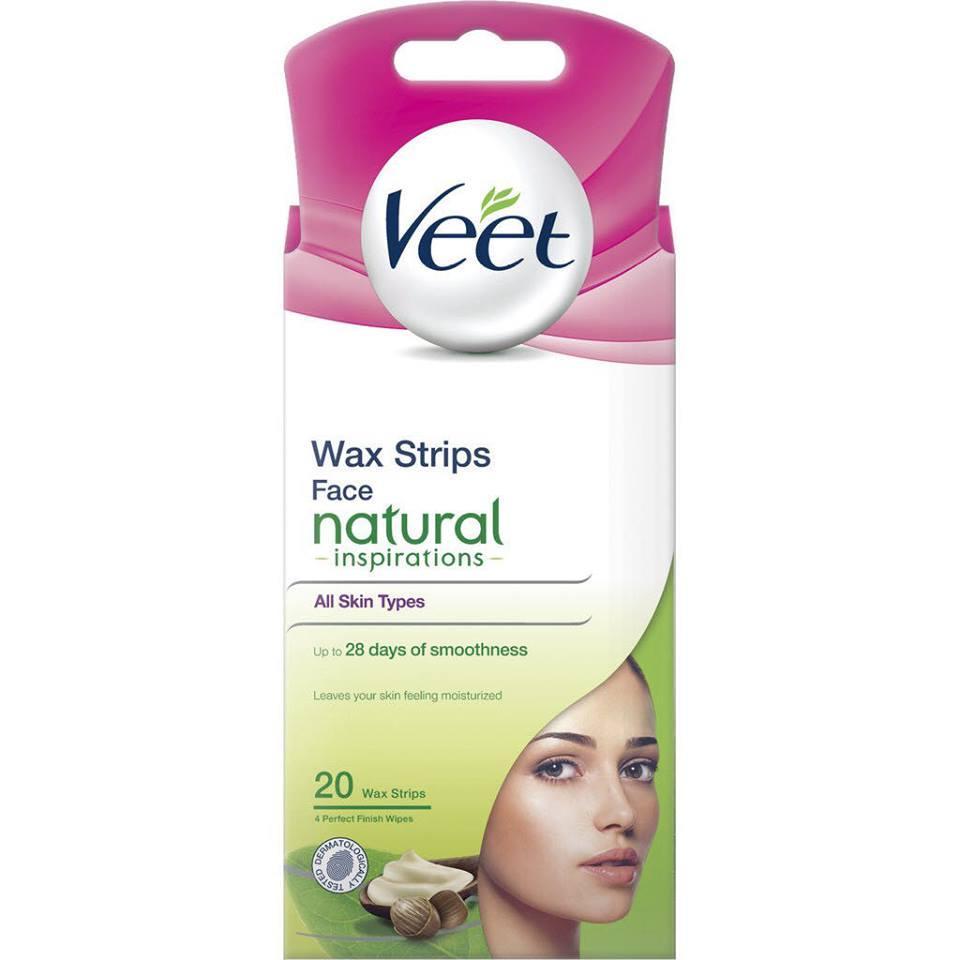 Miếng Dán Tẩy Lông Mặt Veet Face Precision Wax Strips - Da Thường