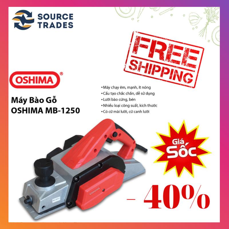 [XẢ KHO-FREESHIP]Máy bào gỗ cầm tay Oshima MB 1250 (Đỏ đen)