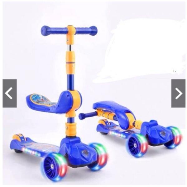 Mua Xe trượt scooter có nhạc có đèn kiêm xe chòi chân 2 trong 1
