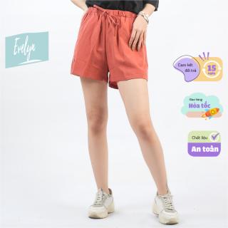 Quần đũi nữ Evelyn cộc ống rộng cạp chun siêu mát , quần đùi nữ kiểu dáng hàn quốc chất mát thoáng thumbnail