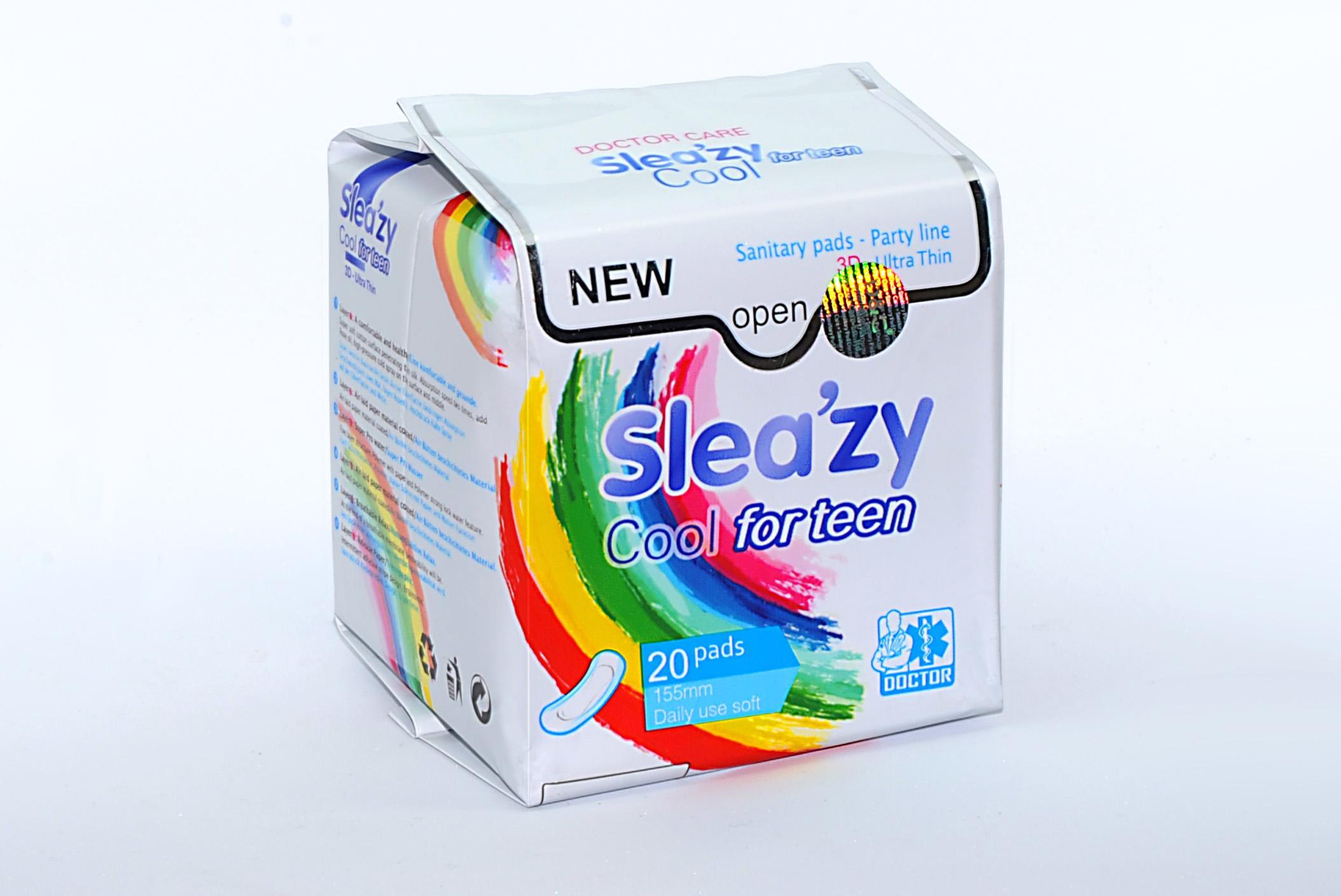 Doctor Care/ Băng vệ sinh thảo dược SleaZy Cool For Teen Hàng Ngày nhập khẩu
