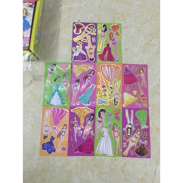 1 xấp 10 tấm sticker hình dán công chúa