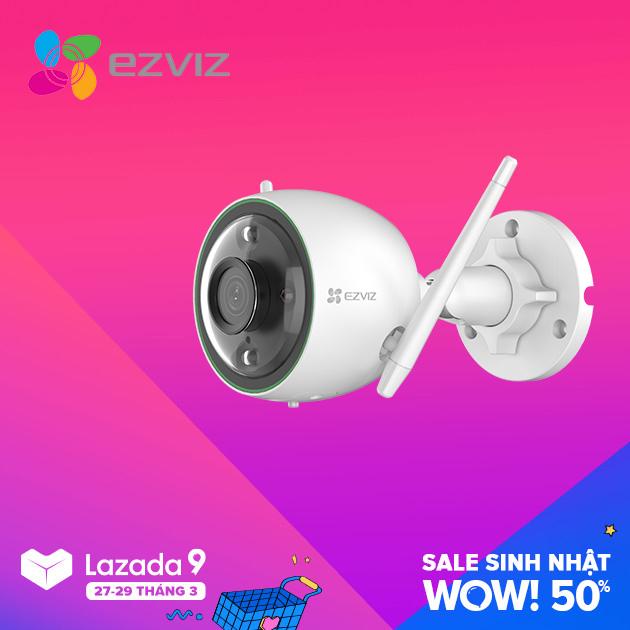 Camera Wifi EZVIZ C3N Full HD 1080P, có màu ban đêm , không còi , có đèn báo động , báo động AI nhận dạng người và xe