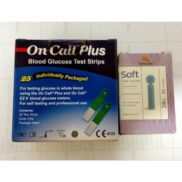 Que thử đường huyết acon on call plus 25 que + tặng hộp 50 kim chích máu, sản phẩm đa dạng, chất lượng tốt, đảm bảo an toàn sức khỏe người sử dụng bán chạy