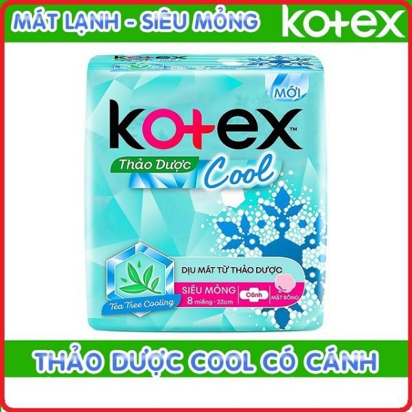 Băng vệ sinh Kotex thảo dược cool siêu mỏng cánh 23cm ( 8 miếng / gói ) - cam kết hàng đúng mô tả chất lượng đảm bảo an toàn đến sức khỏe người sử dụng cao cấp