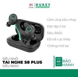 Tai nghe bluetooth không dây hoàn toàn Hukey S8 Plus - Kết nối công nghệ thông minh trí tuệ nhân tạo- siêu nhỏ - siêu bass - đèn LED cực thời trang thumbnail