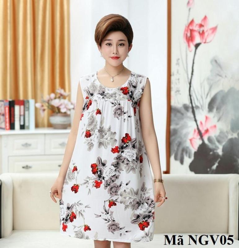 Nơi bán Váy, Đầm Ngủ Mặc Nhà Cho Người Trung Niên, Người Lớn Tuổi NGV01 NGV02 NGV03 NGV04 NGV05 NGV06 NGV07