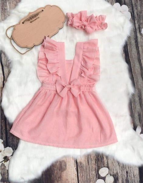 Giá bán Váy bé gái màu hồng từ 6 tháng đến 3 tuổi