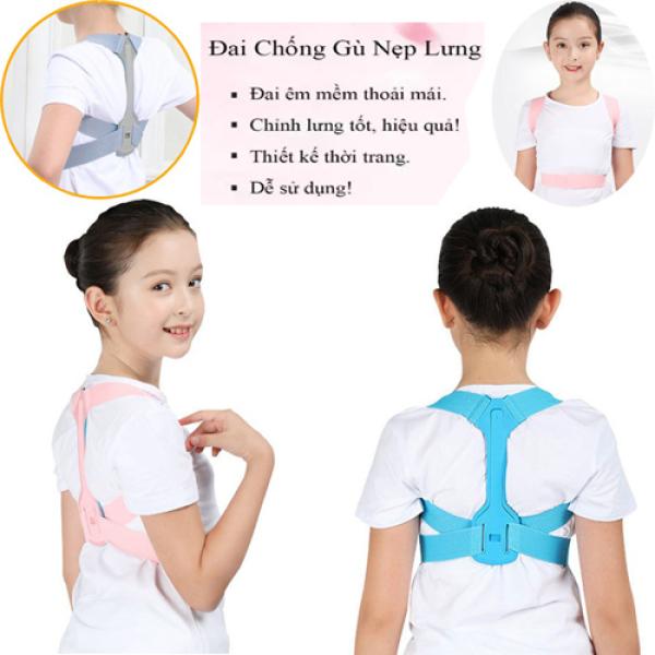Đai chống gù cho trẻ em NAM NỮ có trục tạo tư thế chuẩn khi học hỗ trợ cong lưng, gù lưng cho bé