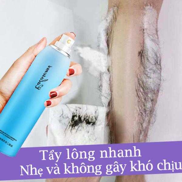 Triệt lông vĩnh viễn an toàn Xịt Tẩy Lông Kem Tẩy Lông Dạng 150ml Thích hợp cho mọi loại da chân, tay, nách và vùng bikini triệt lông nhanh chóng không đau Tẩy lông toàn thân