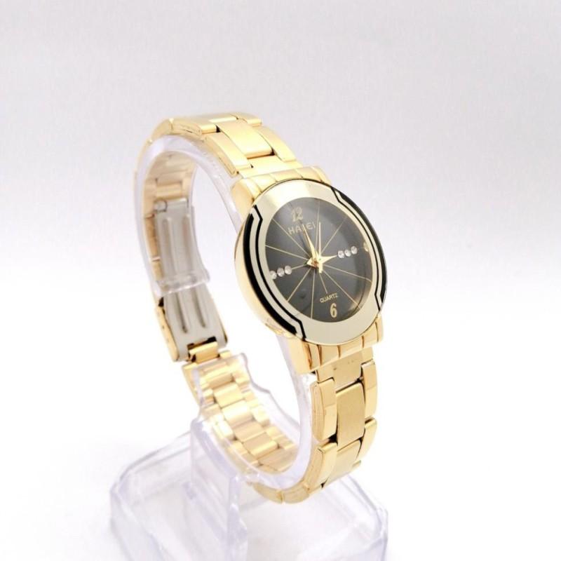 Đồng hồ nữ mặt tròn Halei dây kim loại,chống nước ,chống xước tuyệt đối, sang trọng lịch lãm - Tặng kèm hộp và Pin - Sams Shop