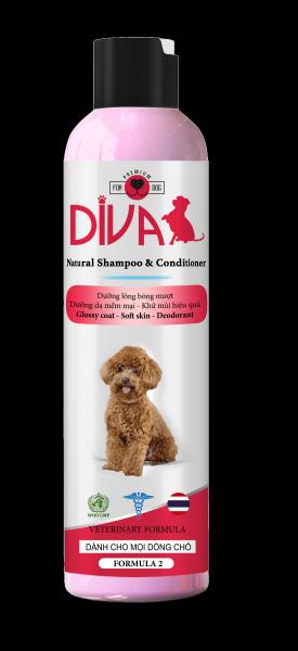 Sữa tắm Diva dưỡng lông khử mùi DIVA Hồng 260ml