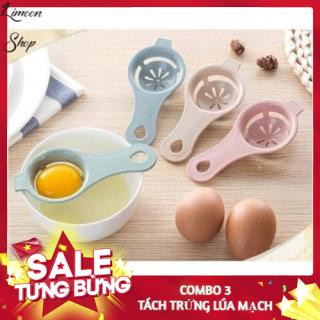 Combo 3 Dụng Cụ Tách Lòng Đỏ Trứng, Muỗng Nhựa Lúa Mạch Tách Trứng Dày Dặn Tiện Lợi - LIMOON SHOP thumbnail