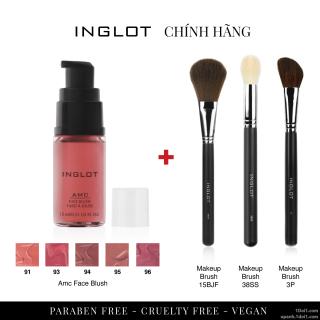 Inglot Combo 1 Má hồng dạng phấn nước Amc Face Blush + 1 cọ Makeup Brush thumbnail