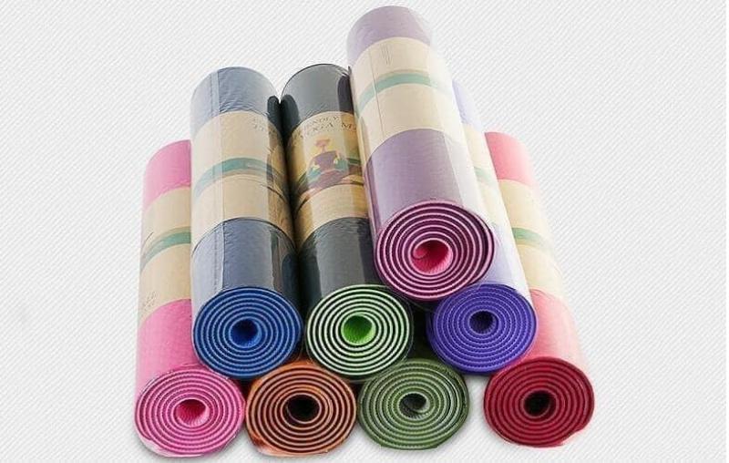 Bảng giá Thảm tập Yoga TPE 2 lớp ECOFRIENDLY 6mm có túi đựng - Được chọn màu