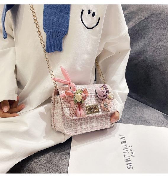 Giá bán Túi hộp đeo chéo cho bé gái mini ZAKUDO dễ thương, ngộ nghĩnh, thời trang hình HOA, THỎ da PU phong cách Hàn Quốc TX26